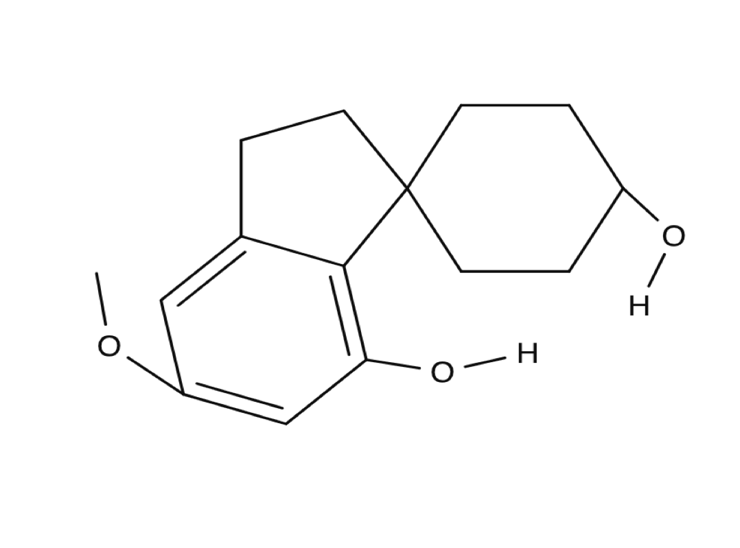 Cannabispiranol chemical structure