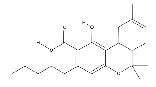 Tetrahydrocannabinolic acid chemical structure