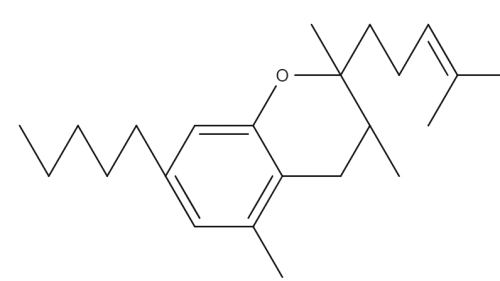 7 Hydroxycannabichromane chemical structure