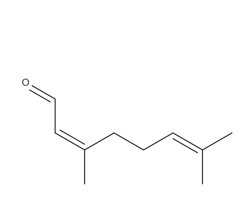 Cis-Citral chemical formula