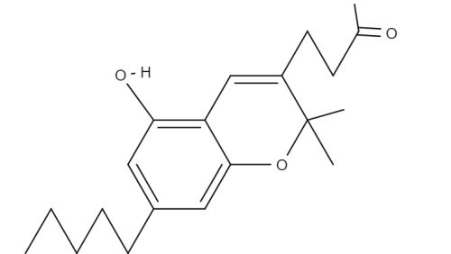 Cannabichromanone chemical structure