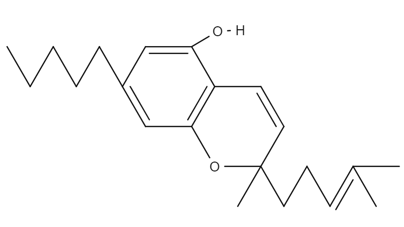 Cannabichromene chemical structure