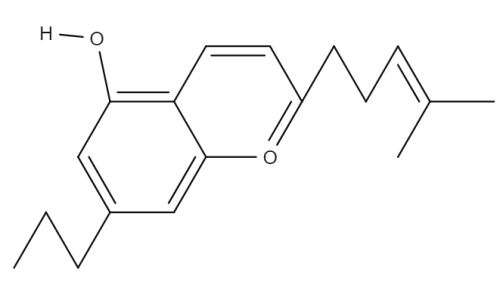 Cannabichromevarian chemical structure