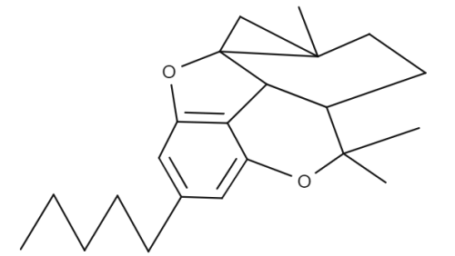 Cannabicitran chemical structure