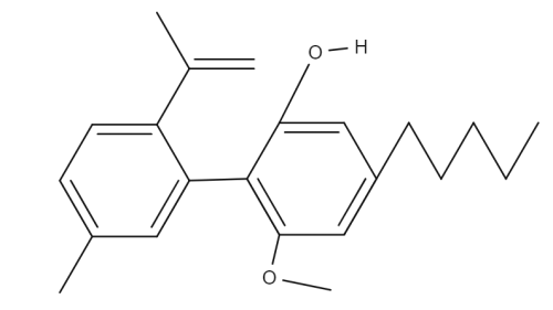 Cannabidiol Monomethylether chemical structure