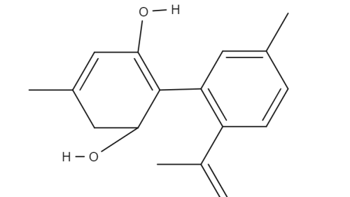 Cannabidiorcolchemical structure