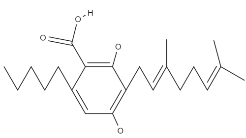 Cannabigerolic Acid A/B chemical structure