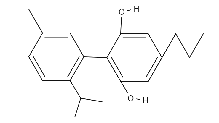 Cannabinodivarian chemical structure