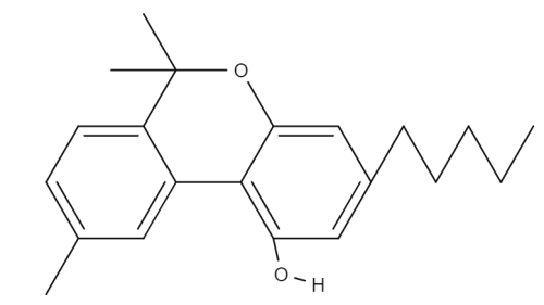 Cannabinol chemical structure