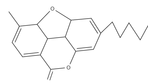 Cannabioxepane chemical structure