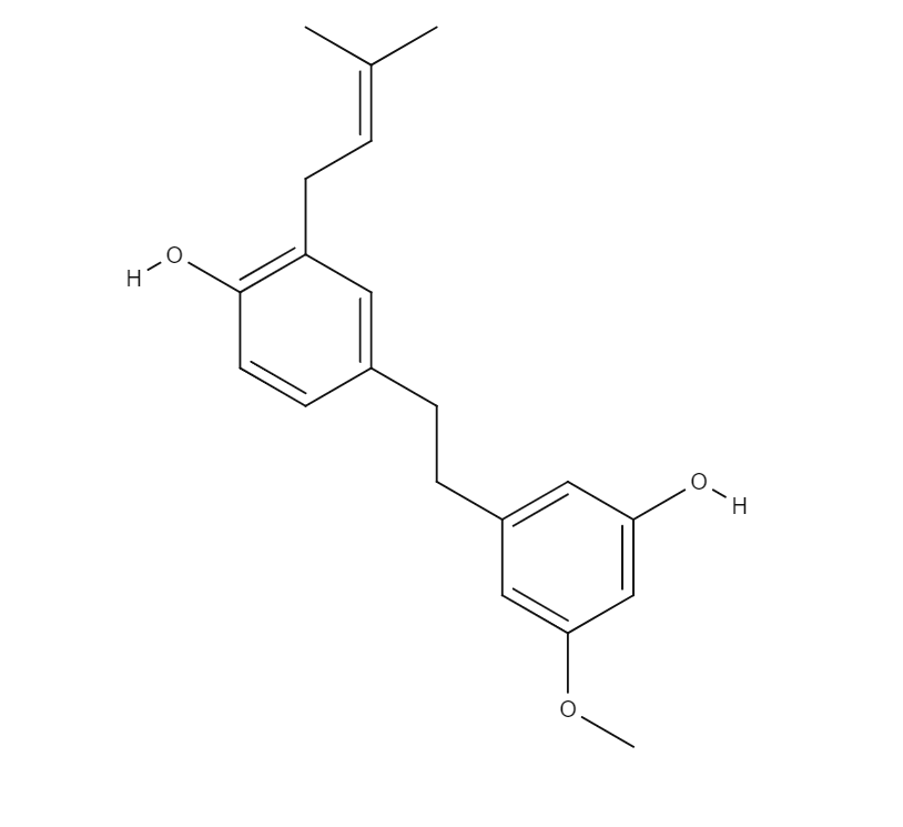 Cannabistilbene chemical structure