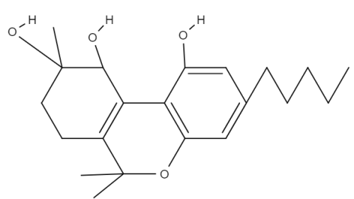 Cannabitetrol chemical structure