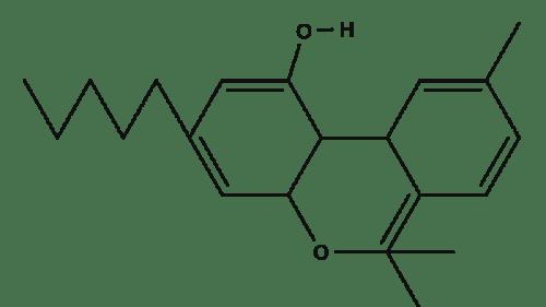 Tetrahydrocannabinol chemical structure