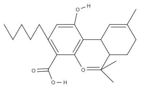 Tetrahydrocannabinolic Acid chemical structure