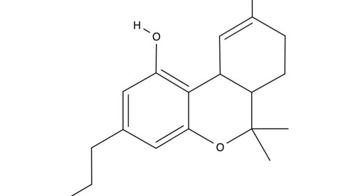 Tetrahydrocannabivarin chemical structure