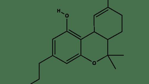 Tetrahydrocannabivarin chemical structure