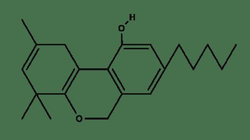 Trans tetrahydrocannabinol chemical structure